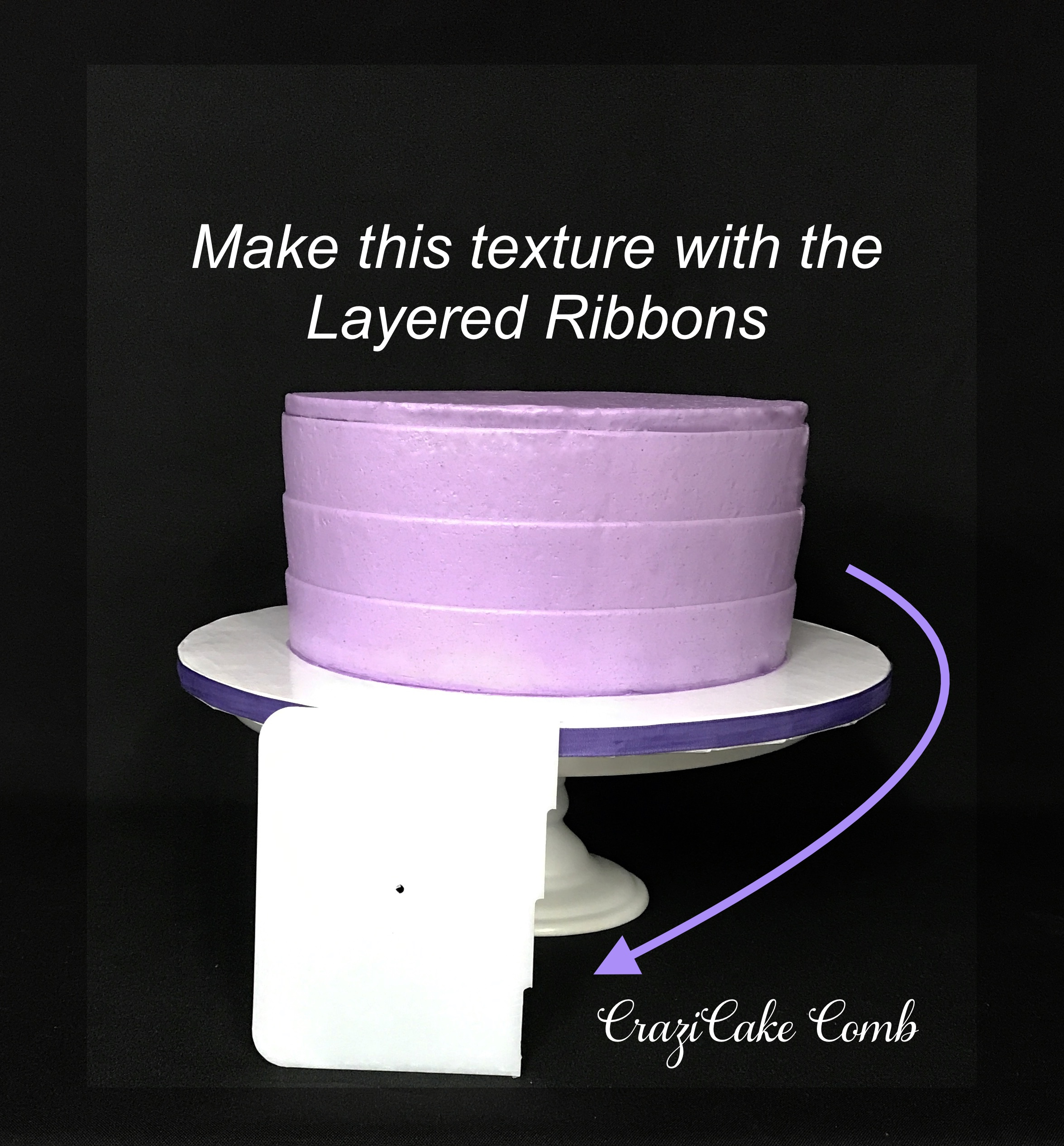 Layered Ribbons CraziCakes Comb